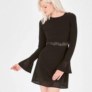 Parker Sonoma laser cut bell sleeve dress size XS